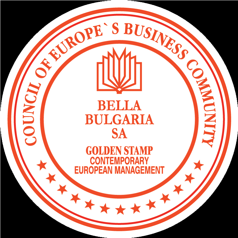 Bella with Golden Stamp (Council of Europe's Business Community, 2011)