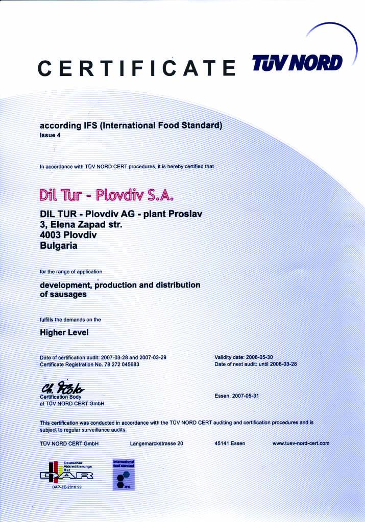 Certificate Dil Tur